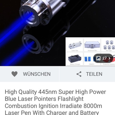1. laser - (Laser, Watt, Laserpointer)
