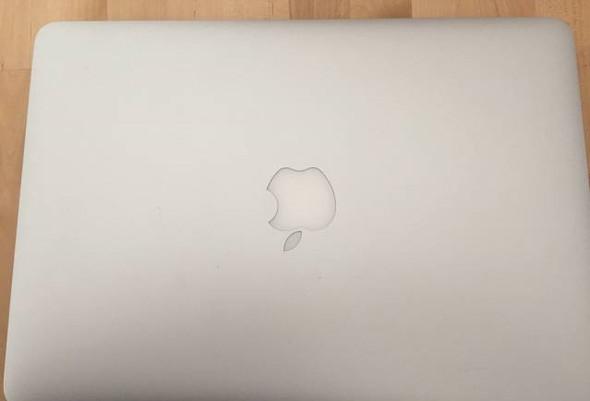 geschlossen, von oben - (Apple, Macbook, erkennen)