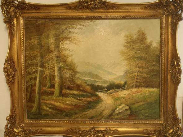 Ölgemälde Wald - (Freizeit, malen, Künstler)
