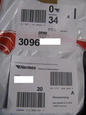 Welcher OTTO Retouren Paketaufkleber? (Retoure)