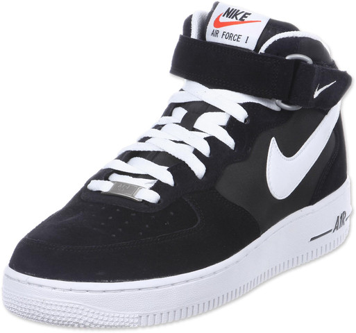 Nike Air Force One Schwarz weiß mid - (Nike, Sneaker, Linksuche)
