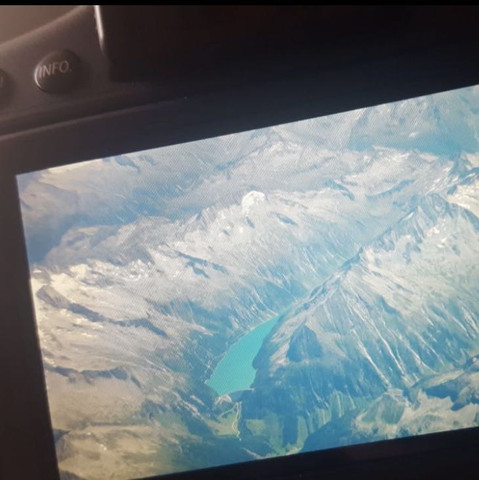 Vom Flugzeug aus - (See, Berge, Alpen)