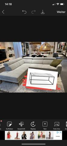 Welcher Tisch passt zu dieser Couch  ( Marmor oder schwarz)?
