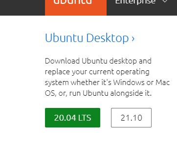 Welcher Ubuntu sollte man hier auswählen (20.04 LTS oder 21.10)?