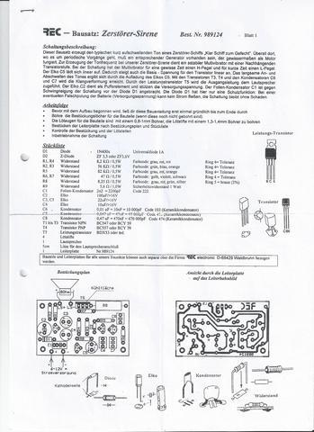 Schaltungsberschreibung, Stückliste - (Technik, Elektronik, Elektrik)