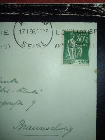 .- - (Brief, Frankreich, Schrift)