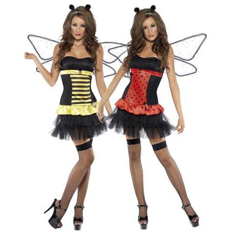 Biene und Marienkäfer - (Kostüm, Karneval)