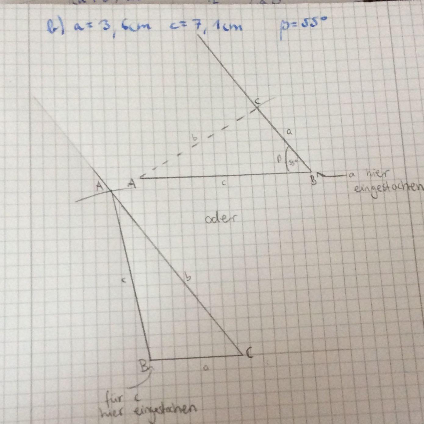 welches dreieck ist richtig dreiecke konstruieren kongruenzs tze mathe gymnasium abc. Black Bedroom Furniture Sets. Home Design Ideas