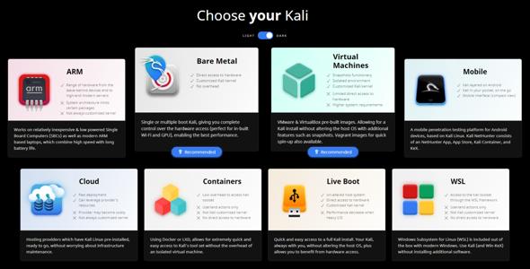 Welches Kali Linux soll ich nehmen?
