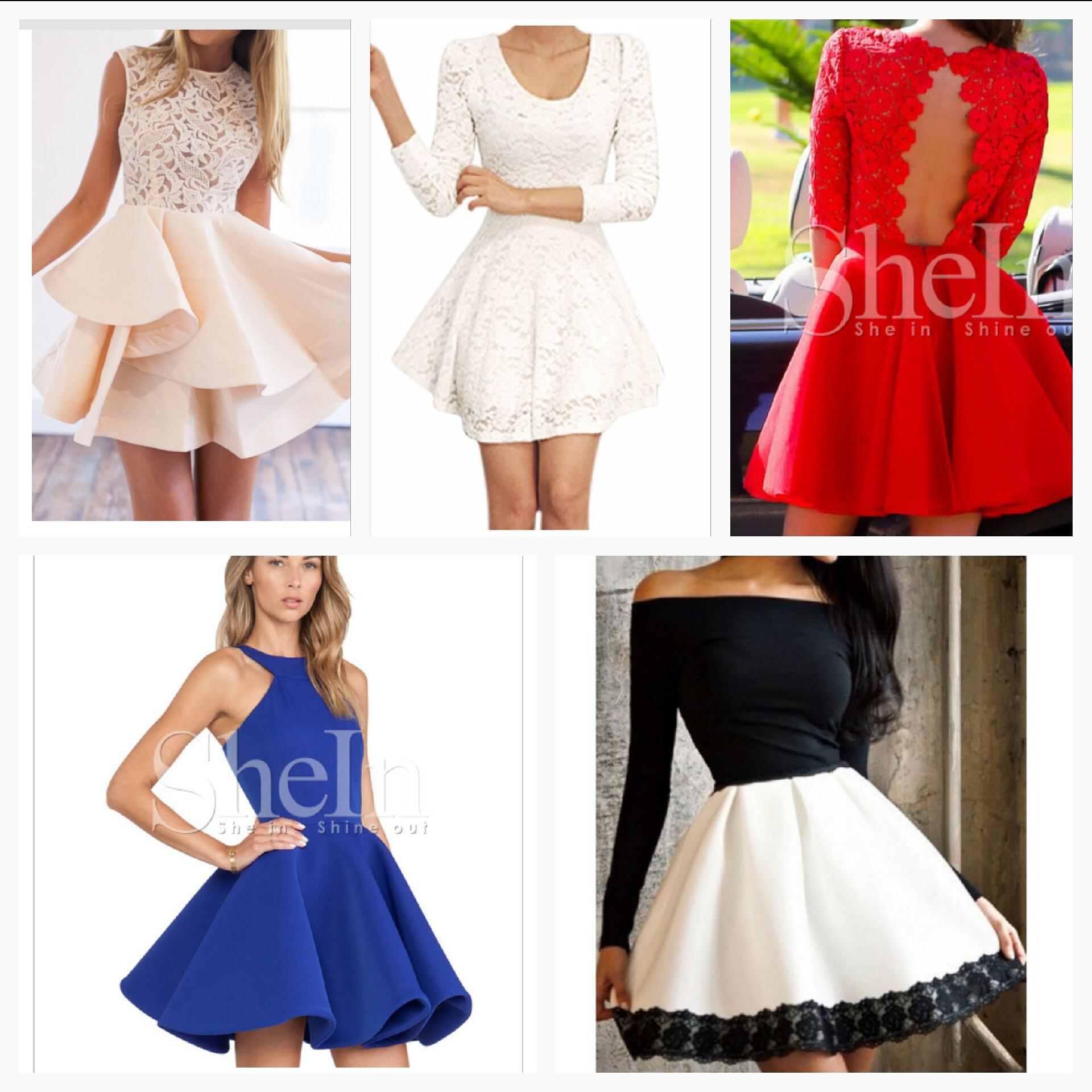 Welches Kleid sieht am schönsten aus? (Schule, Mode, Kleidung)