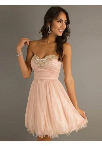 Abschlussball kleider rosa glitzer