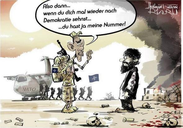Karikatur - (Geschichte, USA, Krieg)