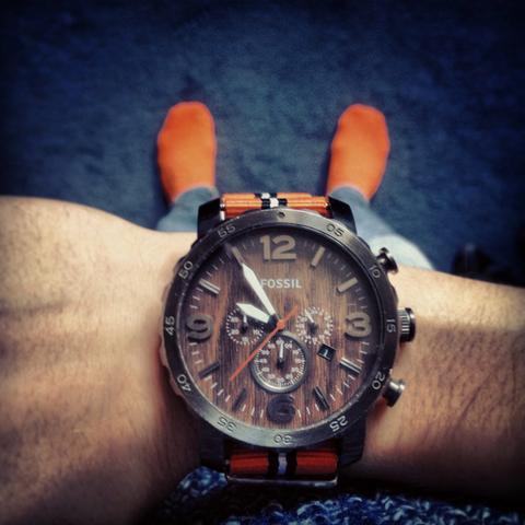 Fossil Uhr - (Uhr, Holz, Orange)