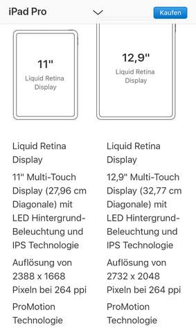 Welches neue iPad Pro hat eine bessere Auflösung?