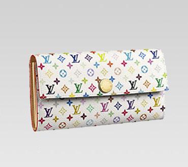 Louis Vuitton Geldbörse Weiß