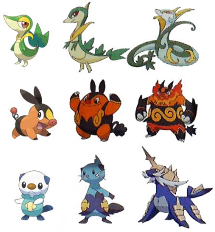 Welches starter nehmt ihr in black white pokemon - Starter pokemon blanc ...