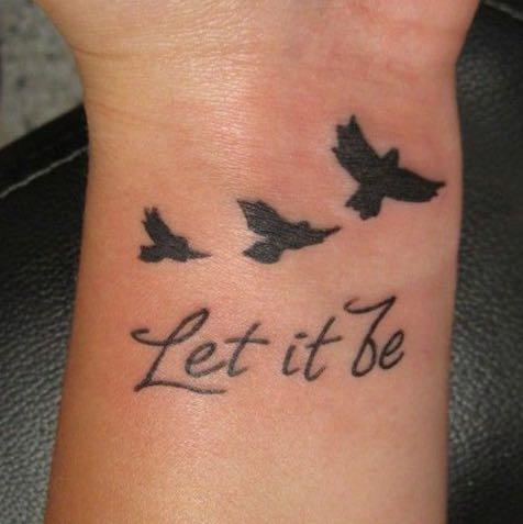 Nur den Schriftzug (2) - (Tattoo, schön)