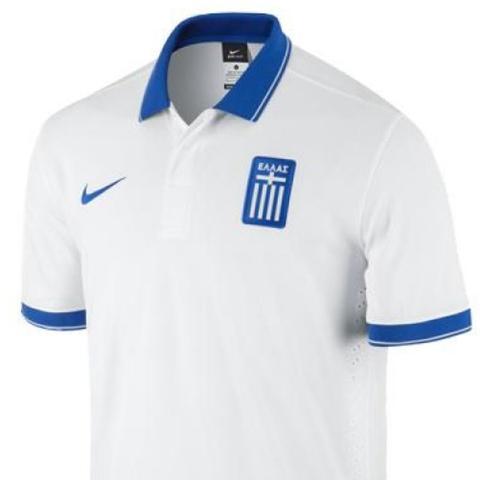 Mit Kragen  - (Fußball, WM 2014,  Griechenland Trikot )