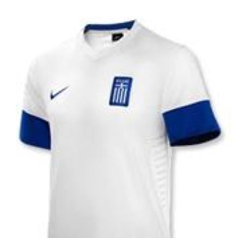 Ohne Kragen  - (Fußball, WM 2014,  Griechenland Trikot )