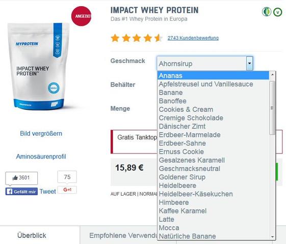 MyProtein-Whey - (Eiweiß, pumpen, Whey)