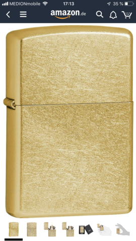 Welches Zippo sieht am besten aus (gold)?