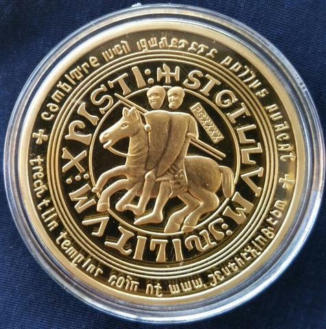 Templer Münze Rückseite - (Latein, Alte schiften)