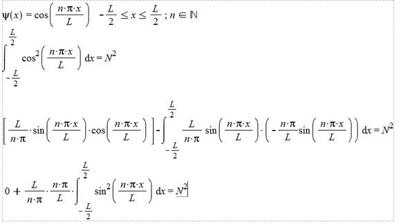 Normierung, Partielle Integration - (Mathematik, Chemie, Quantenmechanik)