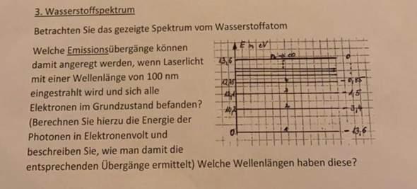 Wellenlänge berechnen bei dieser Aufgabe?