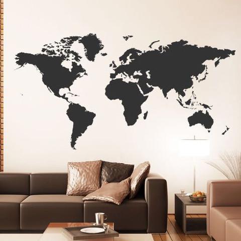 weltkarte auf wand malen wie kunst wand anmalen. Black Bedroom Furniture Sets. Home Design Ideas