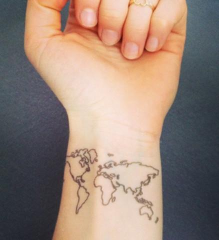 Weltkarten Tattoo Kosten Weltkarte