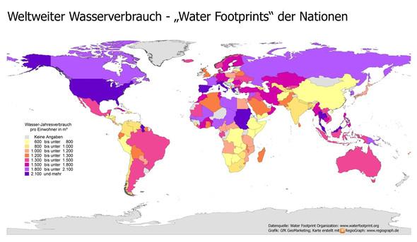 Wasserverbrauch - (Wasser, Statistik, Verbrauch)
