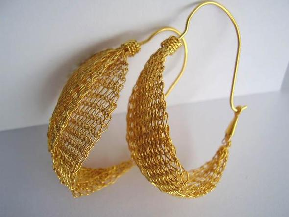 Ohrringe, Silber, vergoldet - (Schmuck, Accessoires)