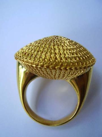 Fingerring, vergoldet - (Schmuck, Accessoires)