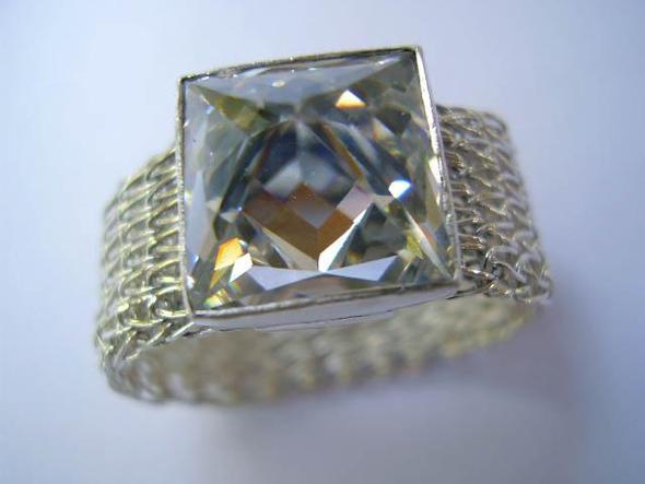 Fingerring, Silber, mit Zirkonia - (Schmuck, Accessoires)