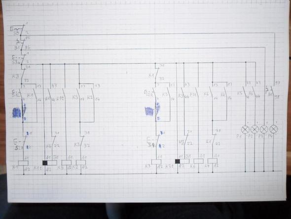 Wendeschützschaltung mit Zeitrelais eines Motors (Elektronik ...