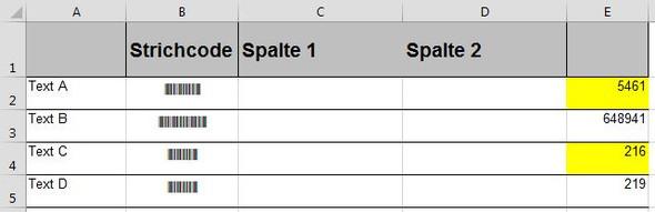 Bespiel Tabelle - (Excel, Formel, kopieren)