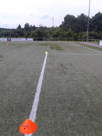 Wenn Ein Spielfeld Der E Jugend Fussball An Allen Seiten 20