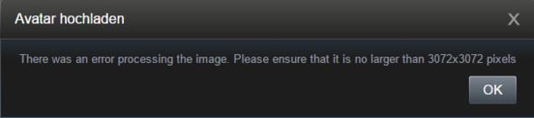das wird mir angzeigt von wegen 3072x3072 :D - (Steam, Paint.net, Steam Avatar)