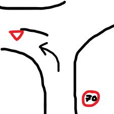 Wenn Ich hier links abbiege bleibt die 70er Zone?