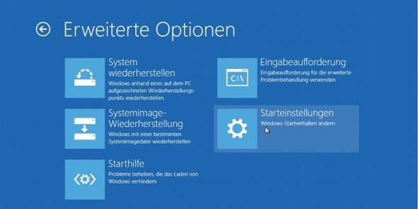 Das Recovery Menü von Windows 8.1 wenn ich ihn einschalte - (Computer, PC, Windows)