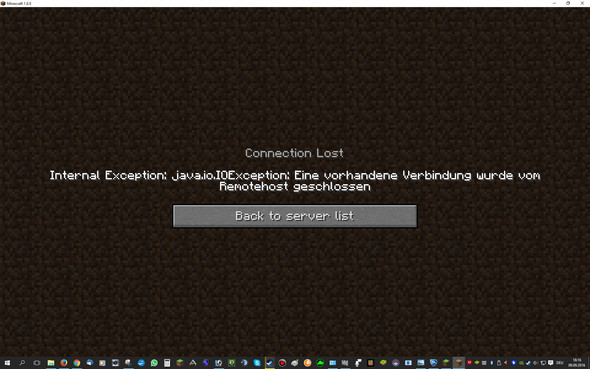 Fehlermeldung - (Minecraft, Java)