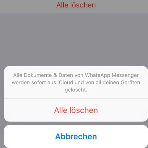 Werden die chats gelöscht? - (iPhone, WhatsApp, icloud)