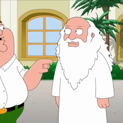Wenn man sich kein Bild von Gott machen darf, warum darf das dann Family Guy?