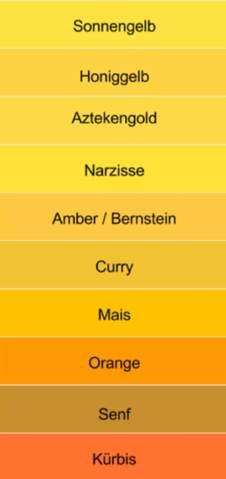 Welchen Gelb Ton findet ihr am schönsten?