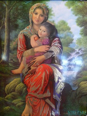 Mutter und Tochter - (Bilder, Familie, Kunst)