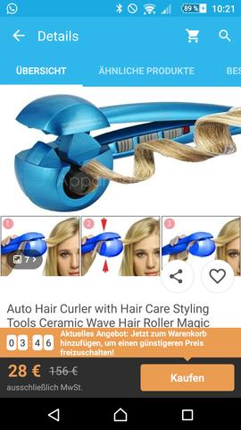 Wer hat Erfahrungen mit einem elektronischen Hair Curler von der wish App?