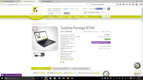 Der Laptop bei GreenPanda.de - (Computer, PC)