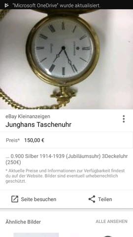 Foto mit Infos - (Uhr, Modell, Taschenuhr)