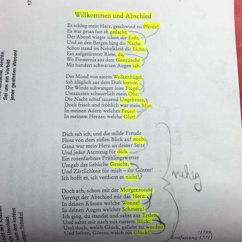 gedichtanalyse willkommen und abschied