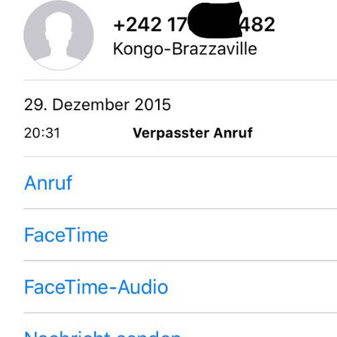 ...... - (Anruf, gefährlich, anonym)